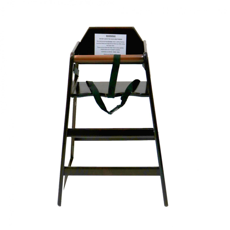 wooden baby high chairs uk best desk kids chair dark brown 24 99 oypla