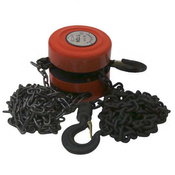 1 Ton Chain Lifting Block & Tackle Hoist Heavy Duty Load