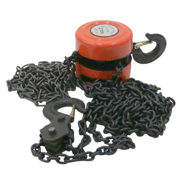 2 Ton Chain Lifting Block & Tackle Hoist Heavy Duty Load