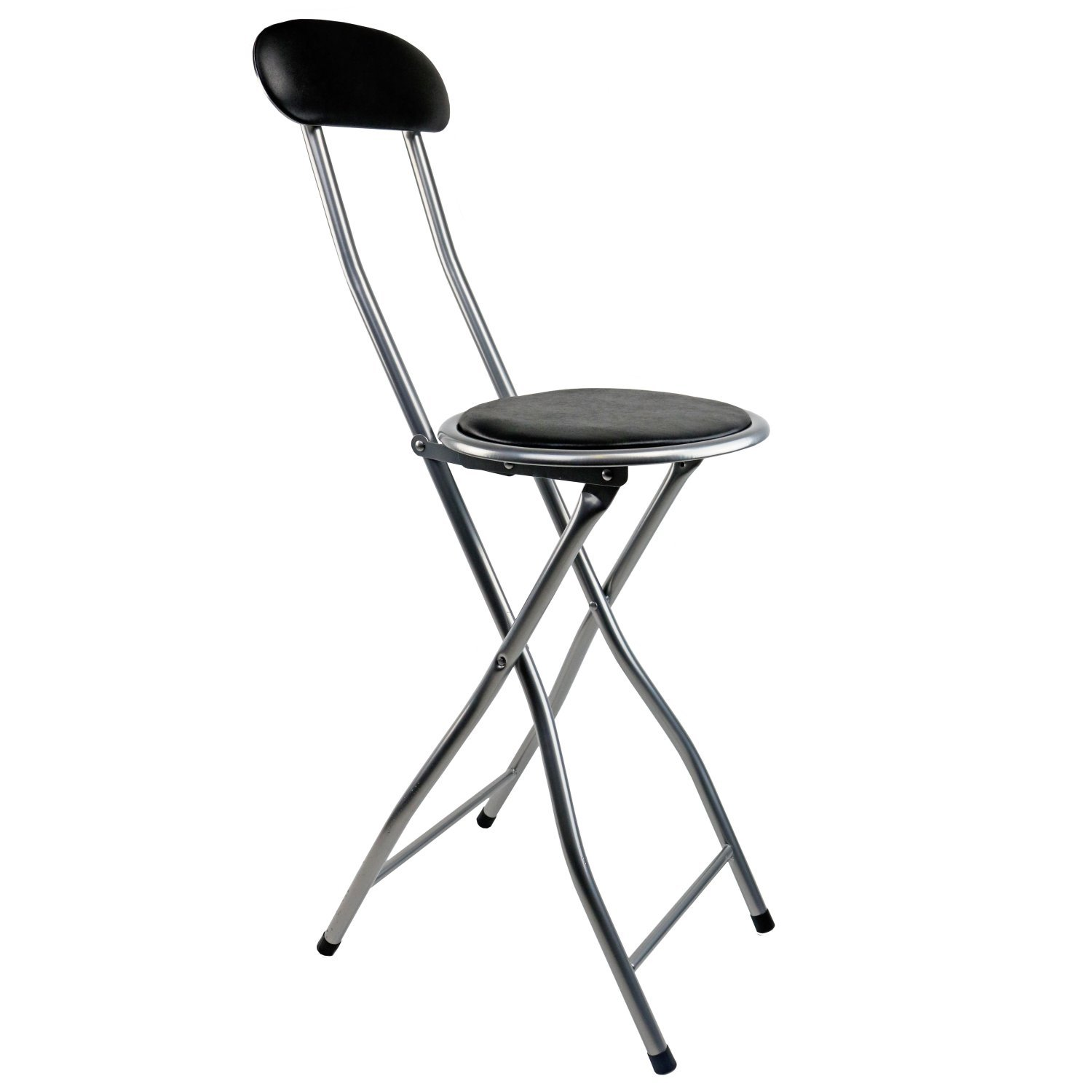 NEW Black Padded Folding High Chair Breakfast Kitchen Bar