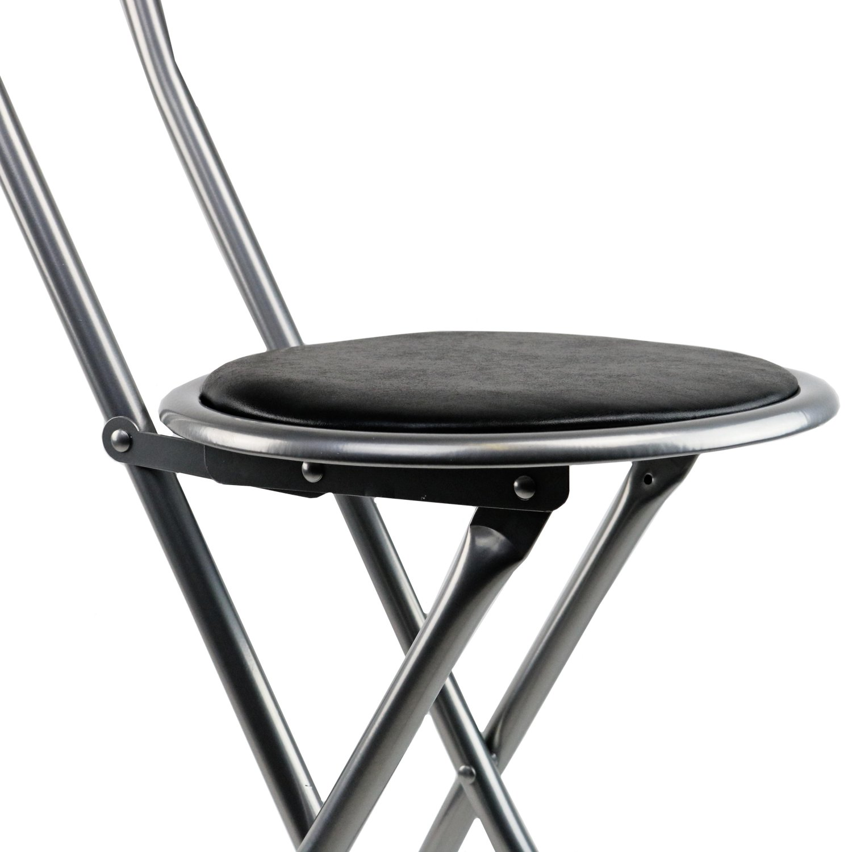 NEW! Black Padded Folding High Chair Breakfast Kitchen Bar
