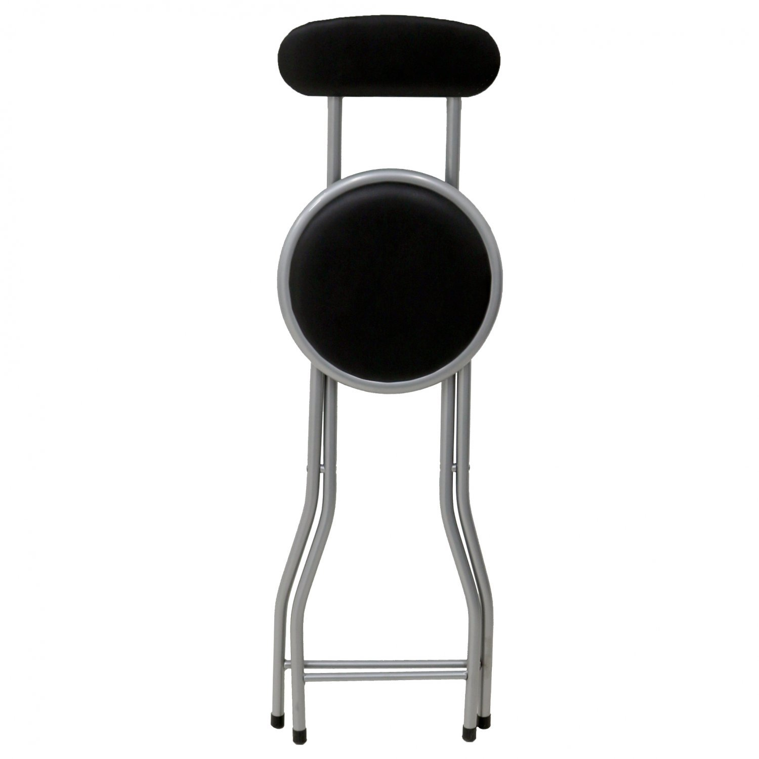 chair stool black double high for twins padded folding breakfast kitchen bar