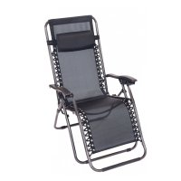 Folding Reclining Garden Deck Chair Sun Lounger Zero ...
