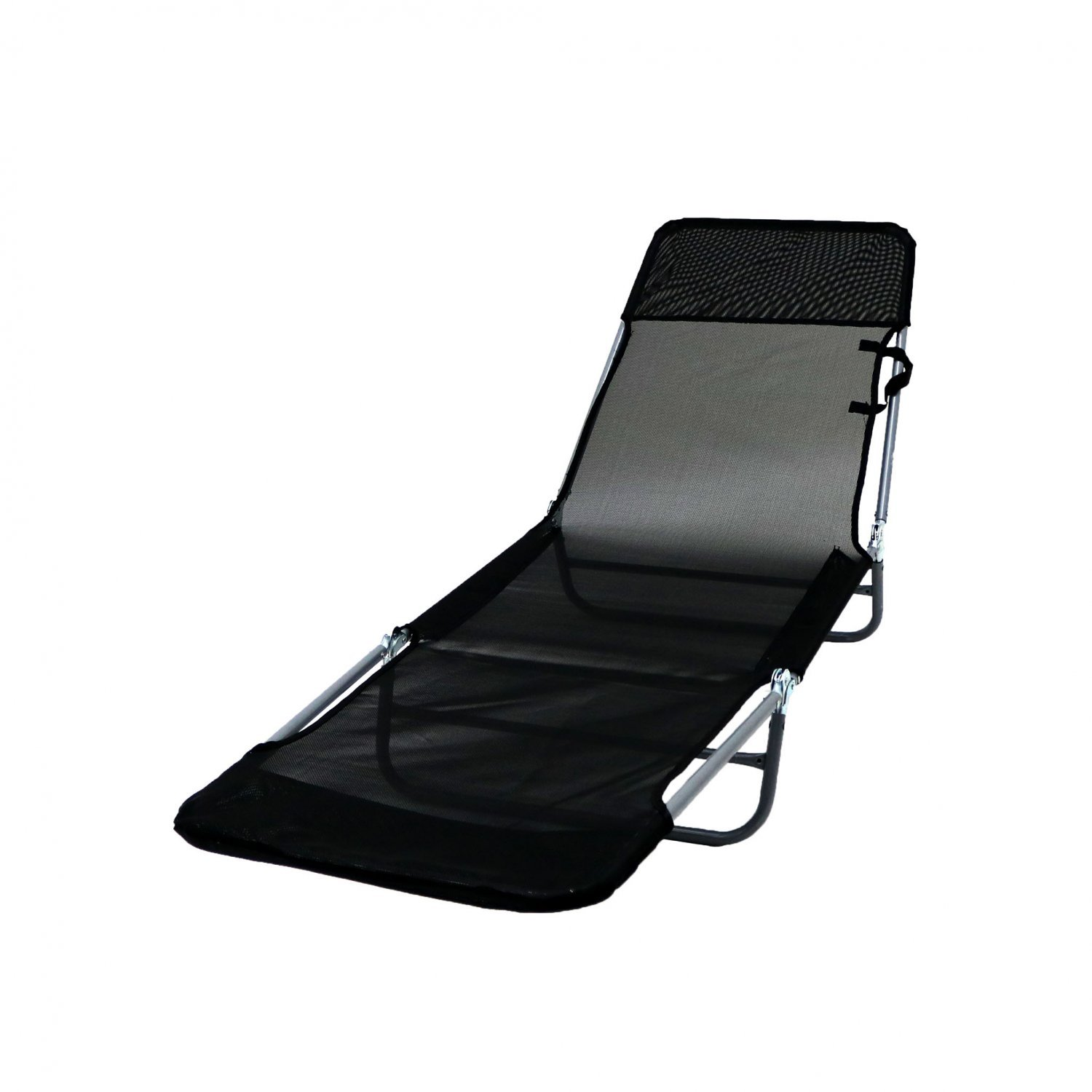 Folding Reclining Sun Lounger Beach Garden Camping Bed