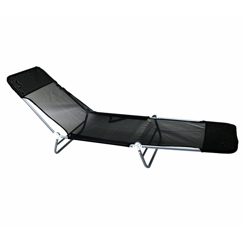 folding chair bed uk french occasional reclining sun lounger beach garden camping