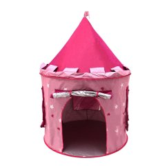 Children S Pop Up Chairs Wheelchair For Cats Childrens Kids Pink Castle Play Tent Fairy Princess
