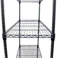 4 Tier Heavy Duty Steel Wire Rack Kitchen Storage Unit w ...
