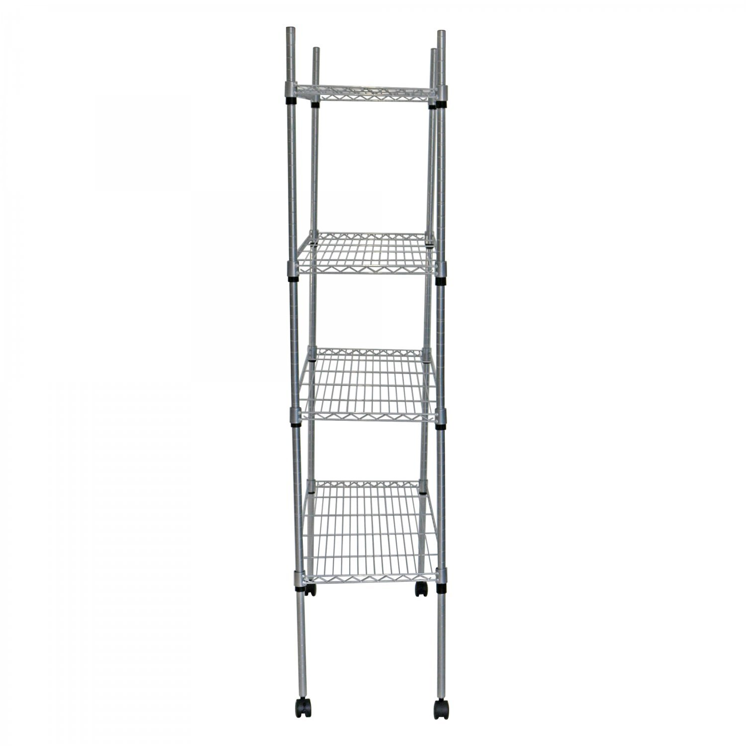 4 Tier Heavy Duty Steel Wire Rack Kitchen Storage Unit W Wheels