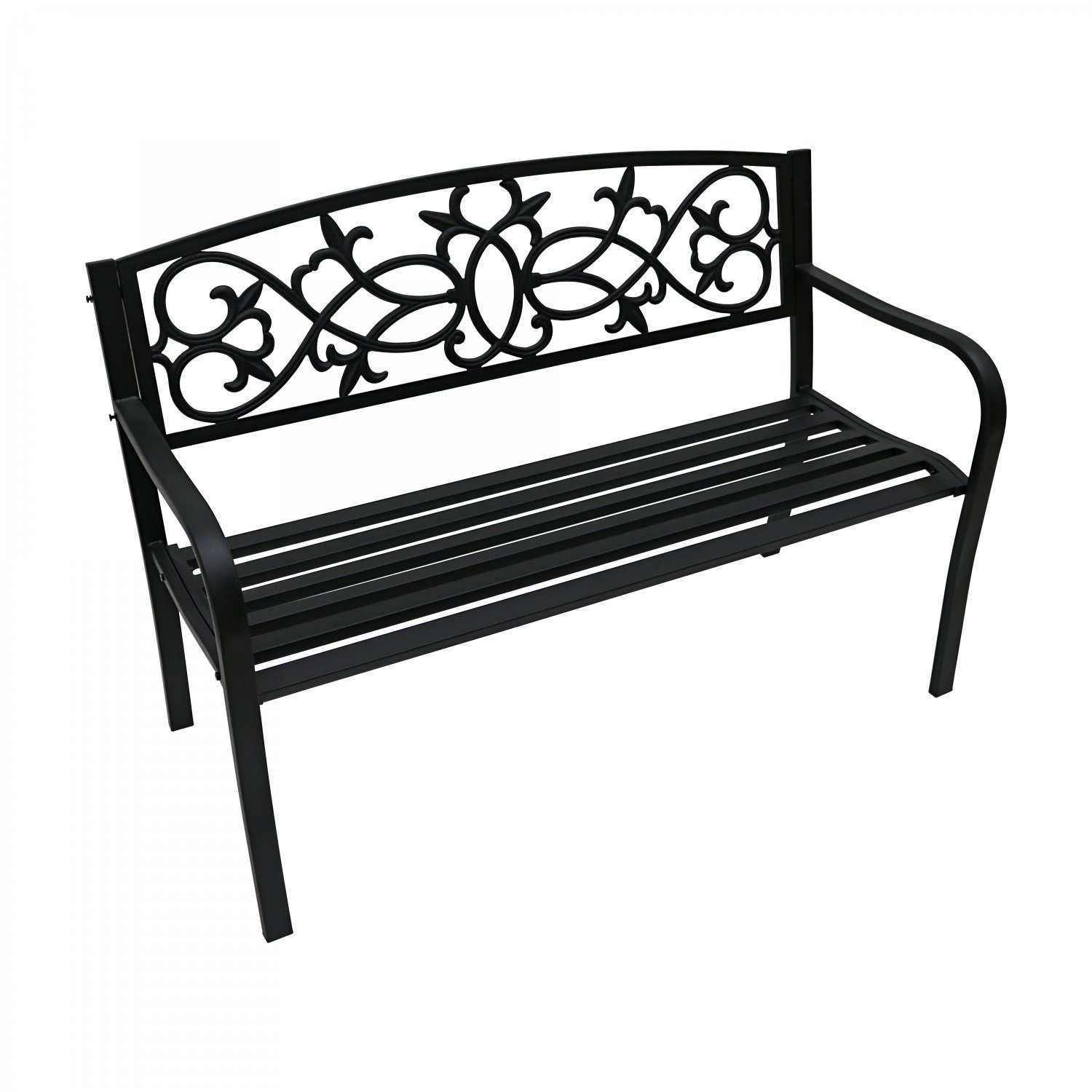 2 Seater Black Metal Outdoor Garden Bench Seat Patio Park Chair 54 99 Oypla Stocking The Very Best In Toys Electrical Furniture Homeware Garden Gifts And Much More