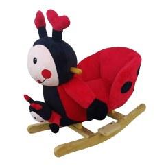 Childrens Plush Chairs Dark Green Chair Covers Baby Kids Ladybird Rocker With Sound