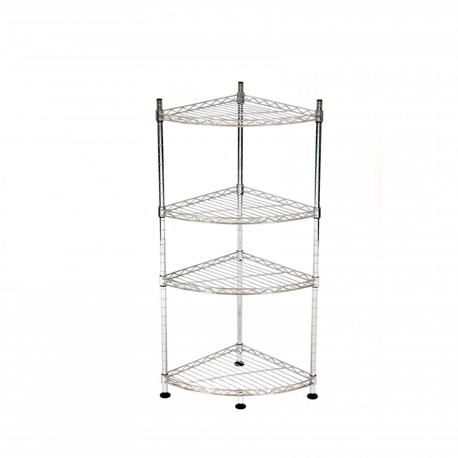 4 Tier Heavy Duty Steel Wire Rack Bathroom Corner Storage