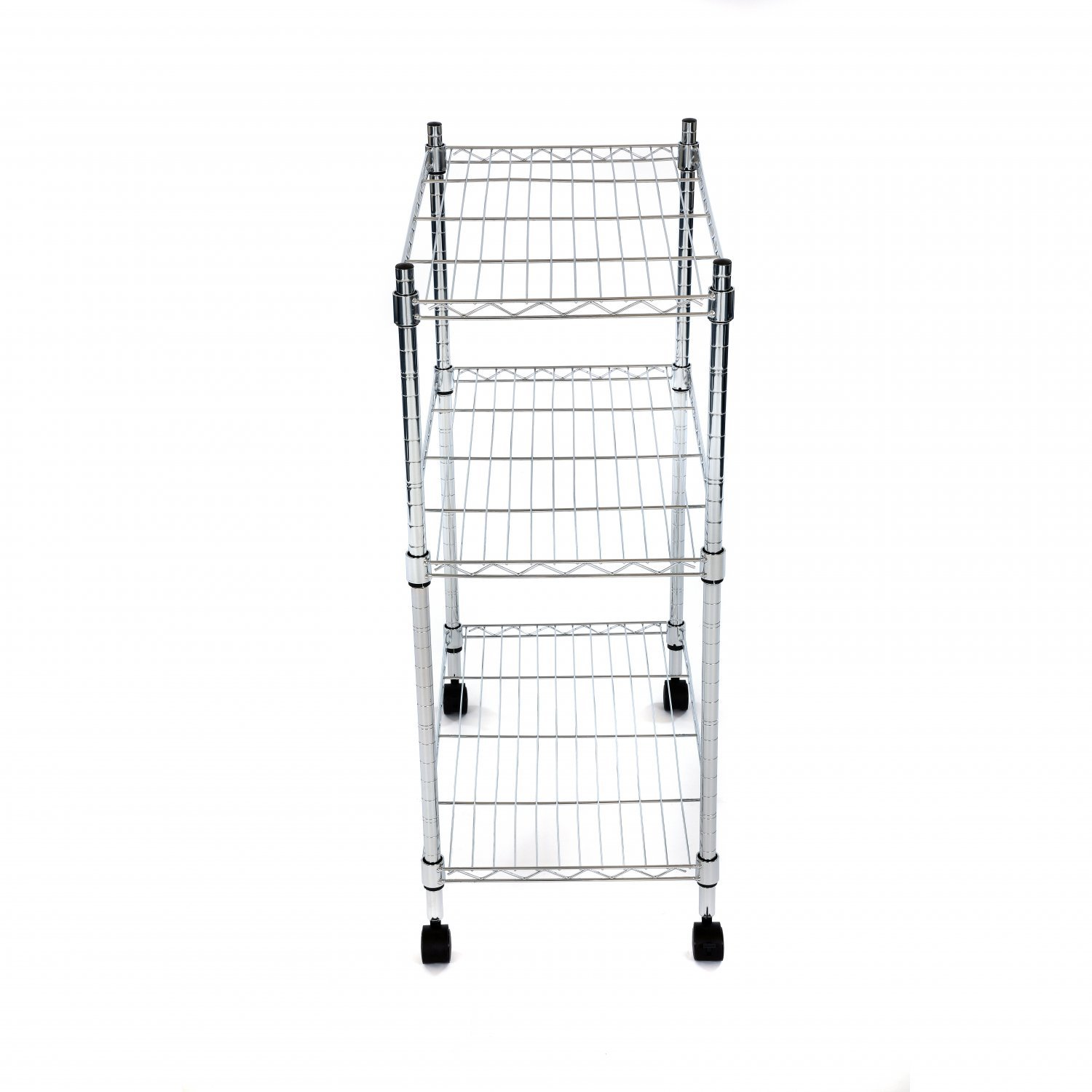 3 Tier Heavy Duty Steel Wire Rack Kitchen Storage Trolley