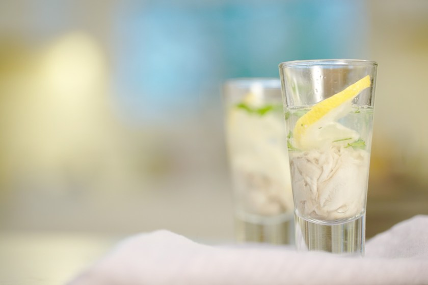 gin and tonic oyster shooter