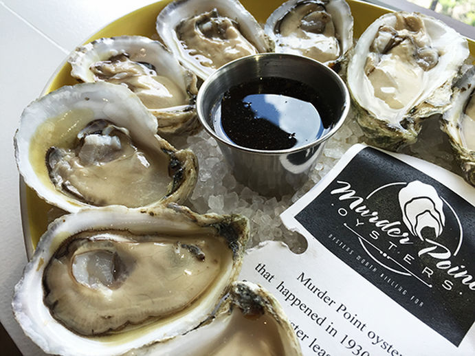 Oysters with Beer Vinegar Mignonette