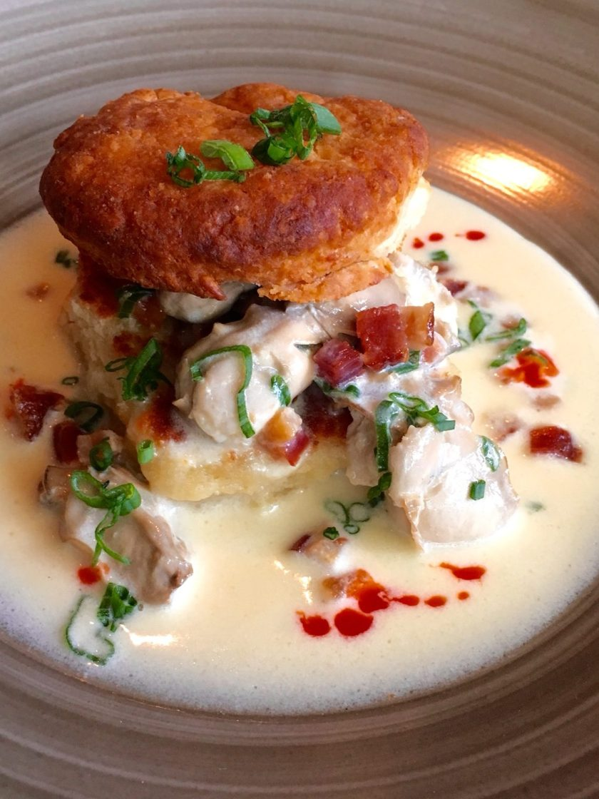 Oyster Stew with Biscuits