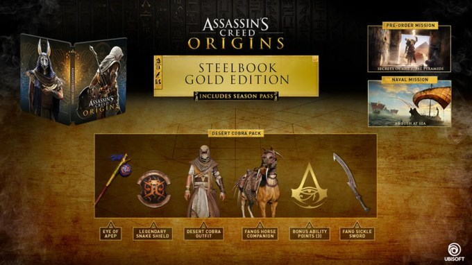 Pre Orders And Limited Editions Assassin S Creed Origins Wiki Guide Ign