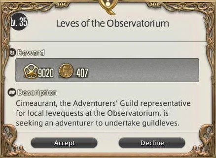 Leves of the Observatorium - Final Fantasy XIV: A Realm Reborn Wiki Guide - IGN