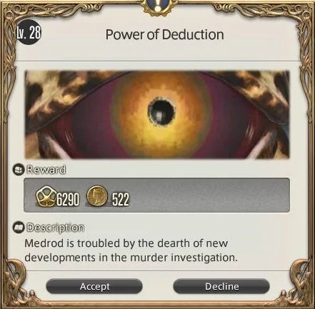 Power Of Deduction Final Fantasy XIV A Realm Reborn
