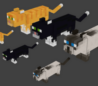 Image result for minecraft cats
