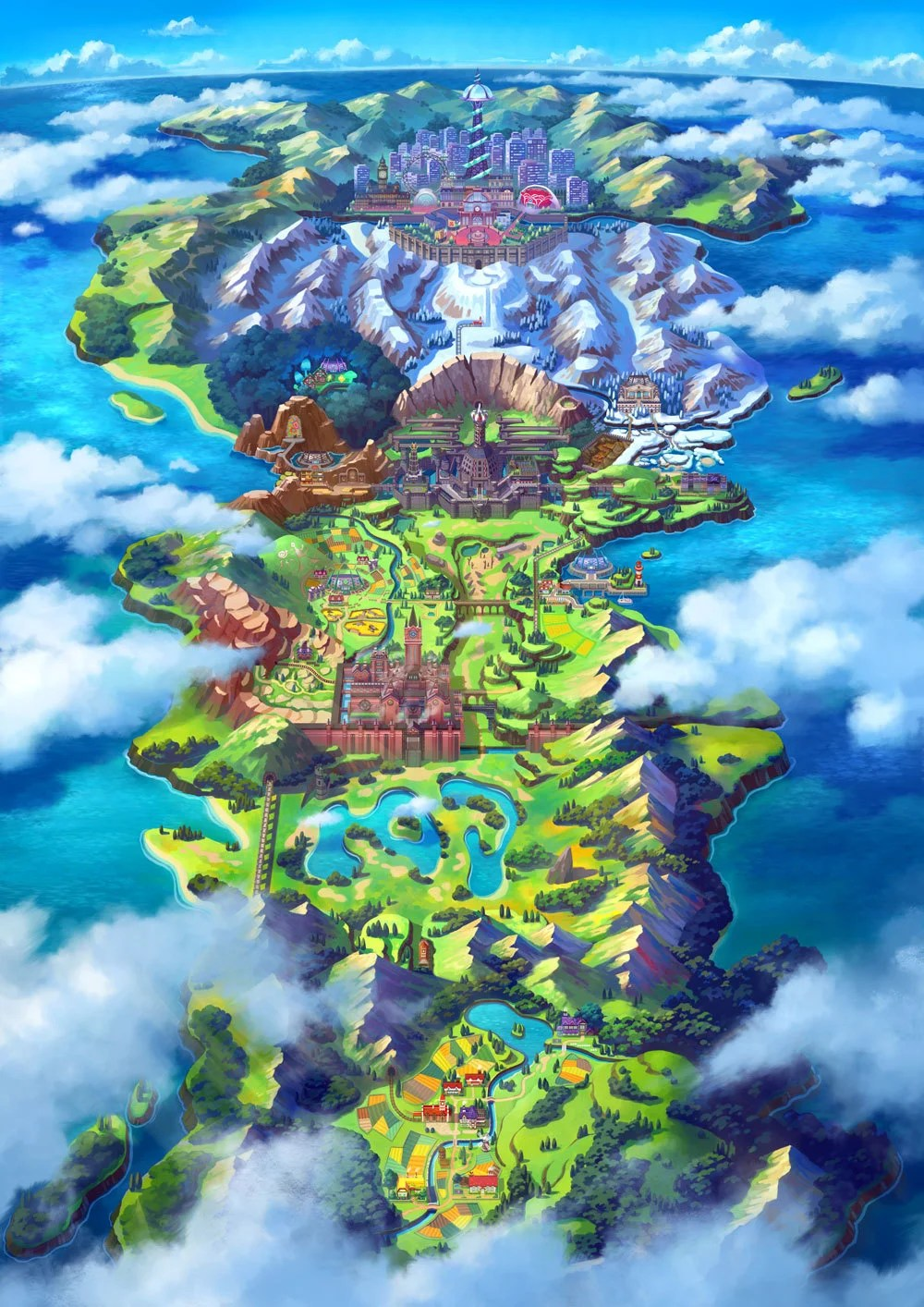 Image result for galar map