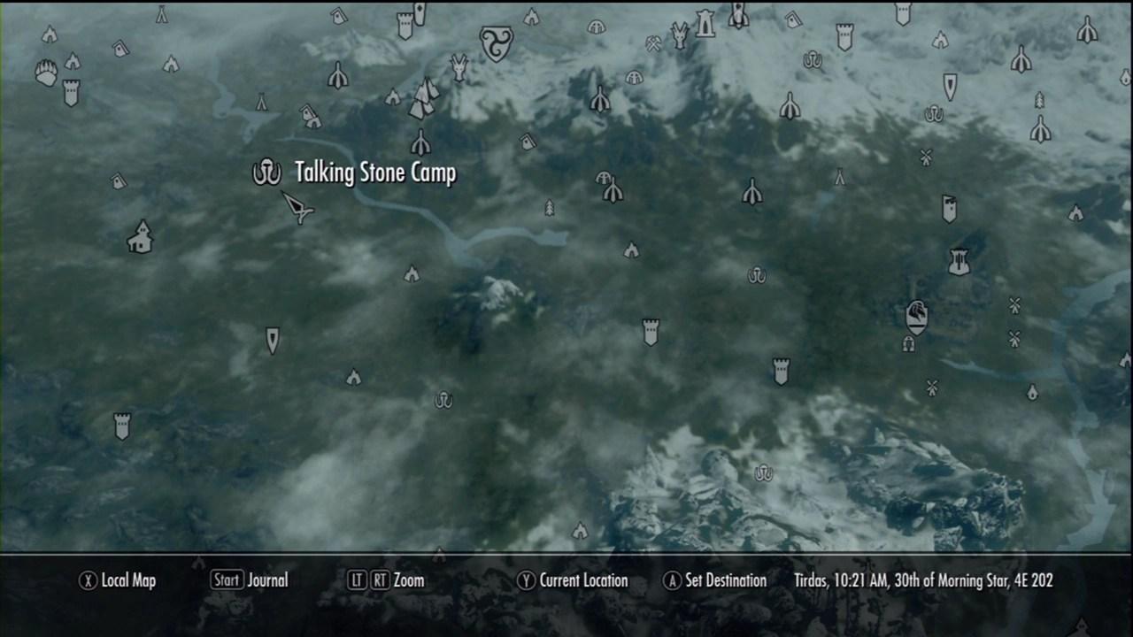 Talking Stone Camp The Elder Scrolls V Skyrim Wiki