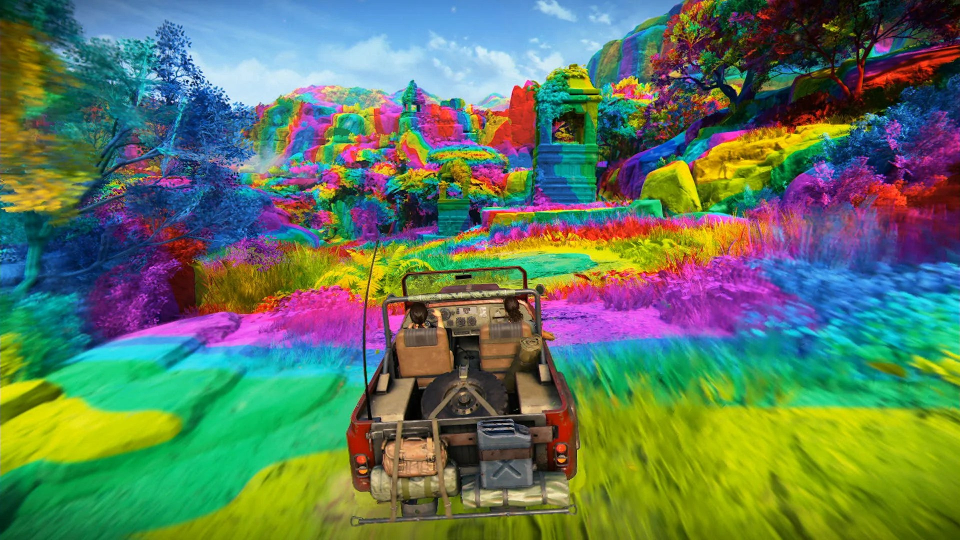 Image result for Rainbow fun world Uncharted Lost legacy