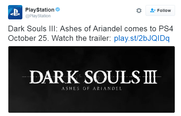 Possible Dark Souls III DLC info