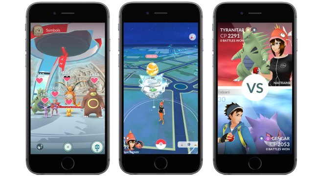 The new look for gyms in Pokemon Go