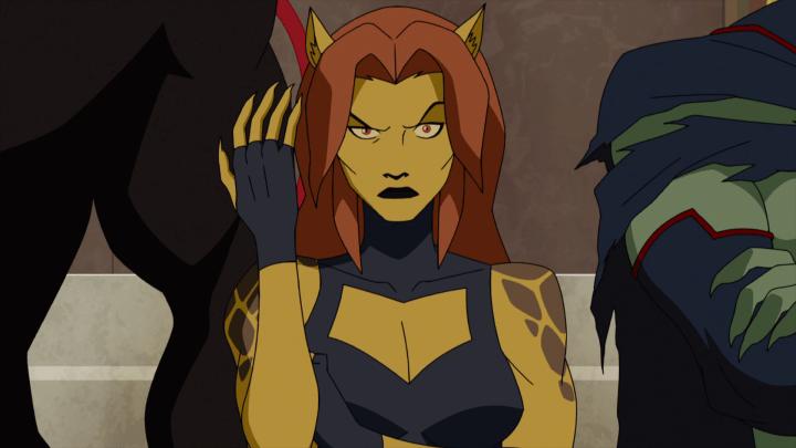 Cheetah como se ve en Justice League: Doom.