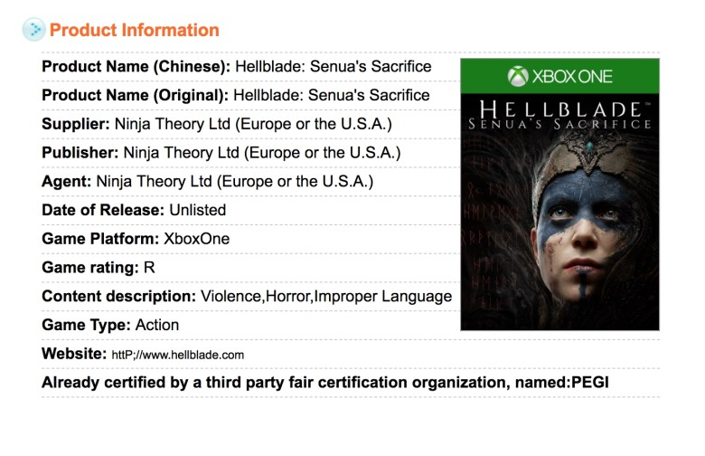 Hellblade: Senua's Sacrifice Could Be Coming to Xbox One | PerezStart