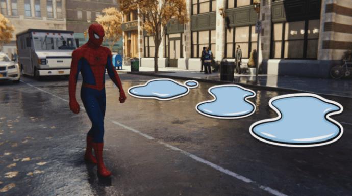 vũng nước Spider Man PS4