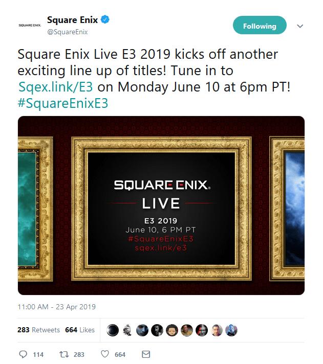 square enix announces its