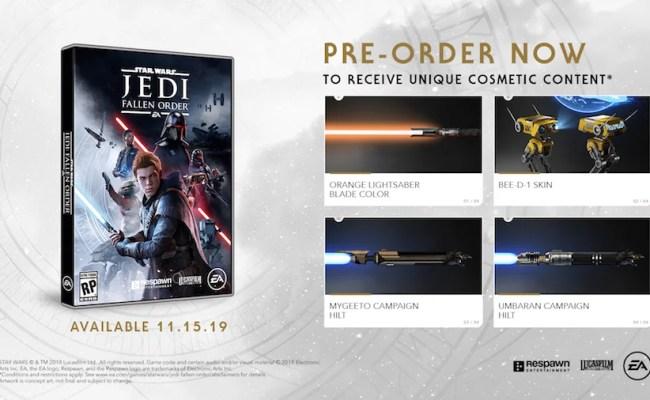 Complete Guide To Star Wars Jedi Fallen Order S Preorder
