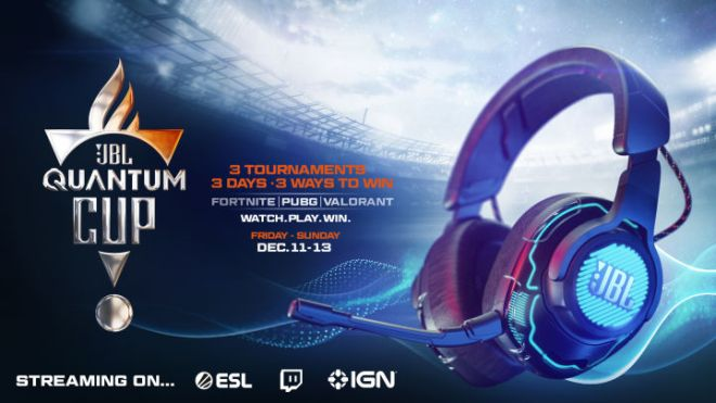 JBL_QC_Announcement_1920x1080-720x405 JBL Quantum Cup: How to Watch the Fortnite, Valorant, and PUBG Tournament   IGN