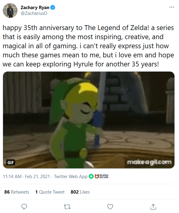 Screenshot_2021-02-22-Zachary-Ryan-on-Twitter It Felt Like Everyone Celebrated Zelda's 35th Anniversary Except Nintendo   IGN