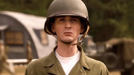 Chris Evans as pre-Super Soldier Steve Rogers.