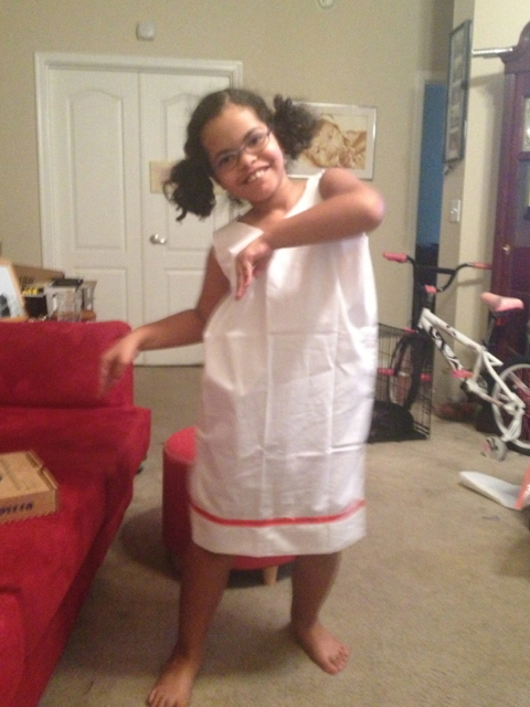 Our no-sew Egyptian dress.