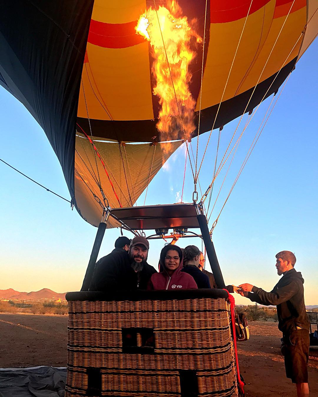 First hot-air baloon ride in sixth-grade