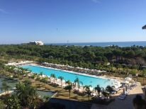 the view with one of the swimming pools