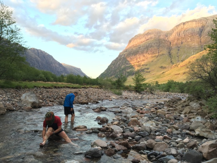 Willie Gibson Alan Rankin cooling feet Glen Coe