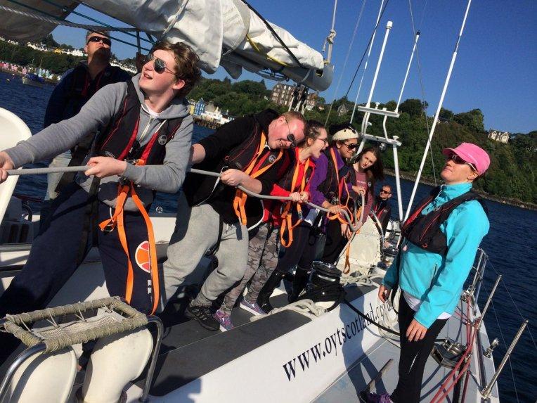 Hoisting sail
