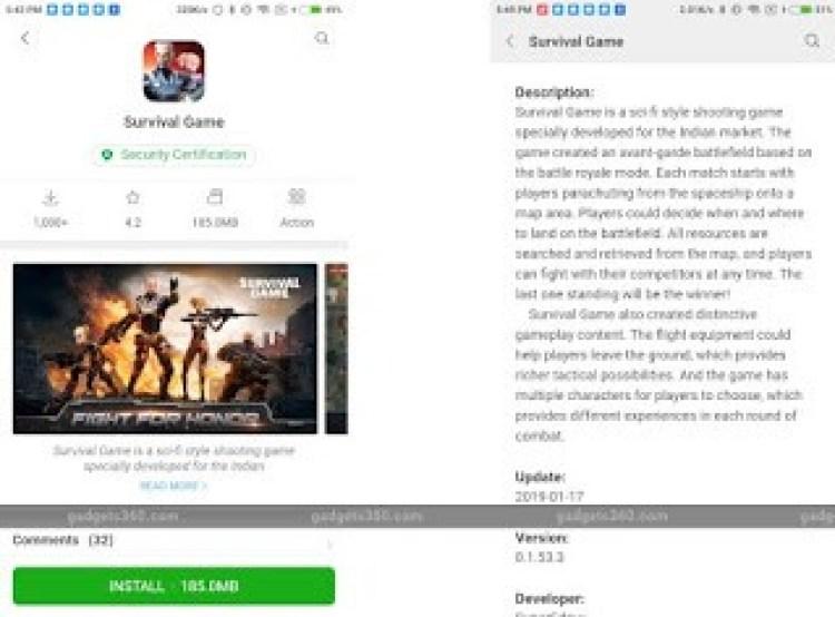 xiaomi survival game