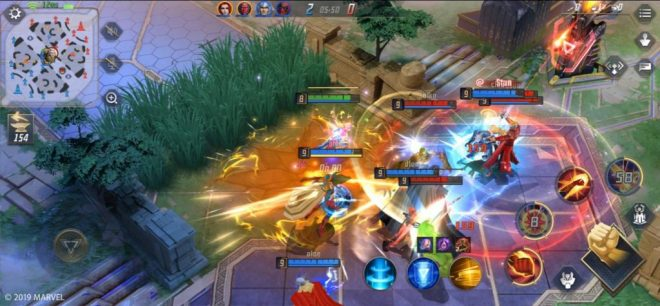 marvel super war mobil moba oyunu