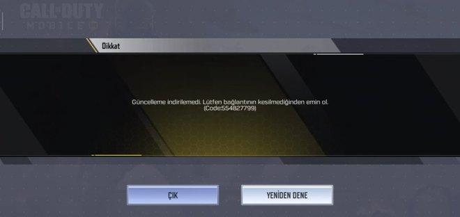 Call of Duty Mobile Güncelleme Hatası