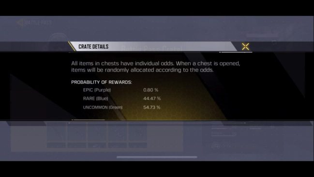 Call of Duty Mobile Drop Rate
