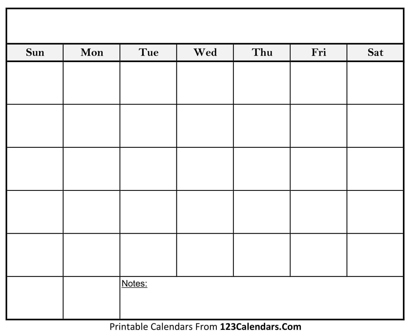 No events are currently scheduled. Blank Calendar To Fill In   Calendar Template Printable