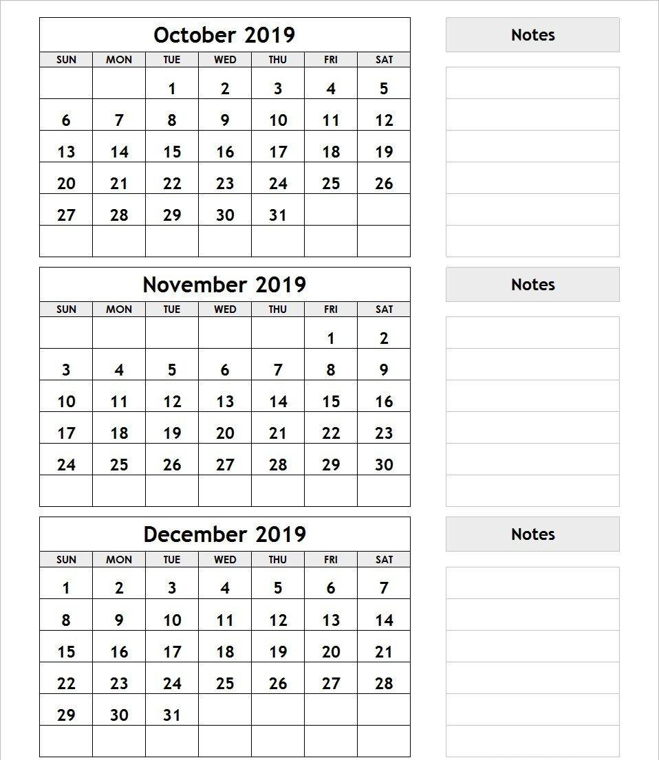3 Month Blank Calendars | Calendar Template Printable