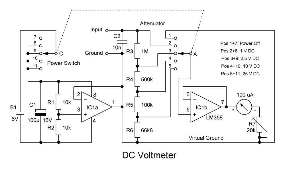 DC-voltmeter af OZ1BXM