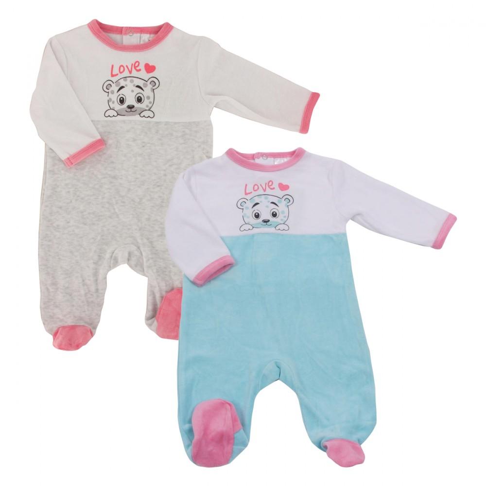 pyjama polaire bebe lot de 2