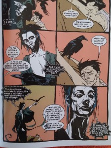 "Pagina 7 din ""The Sandman"", volumul 6, ""Fables & Reflections"", DC Comics, Vertigo, 2012, Neil Gaiman, Bryan Talbot, Stan Woch, P. Craig Russel, Shawn McManus, John Watkiss, Jill Thompson, Duncan Eagleson, Kent Williams."